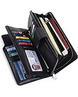 Alavor Woman RFID Blocking Trifold Wallet Long Clutch Credit Card Organizer Purse