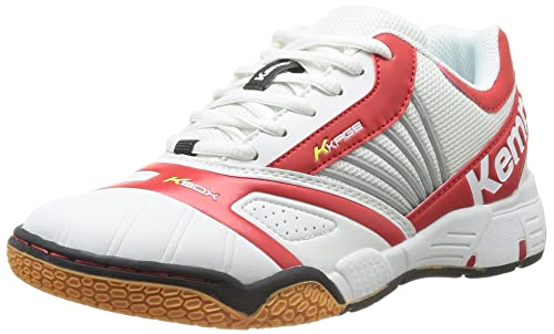 Kempa Tornado Women 2008477 - Zapatillas de balonmano de caucho para mujer, color blanco,