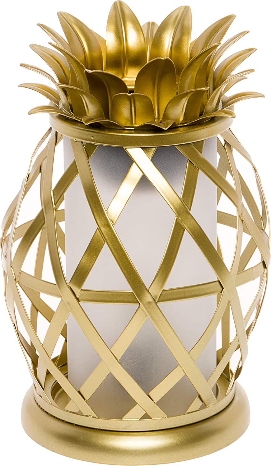 Mindful Design Golden Pineapple Electric Wax Warmer - Tropical Home Fragrance Wax Burner (Gold)