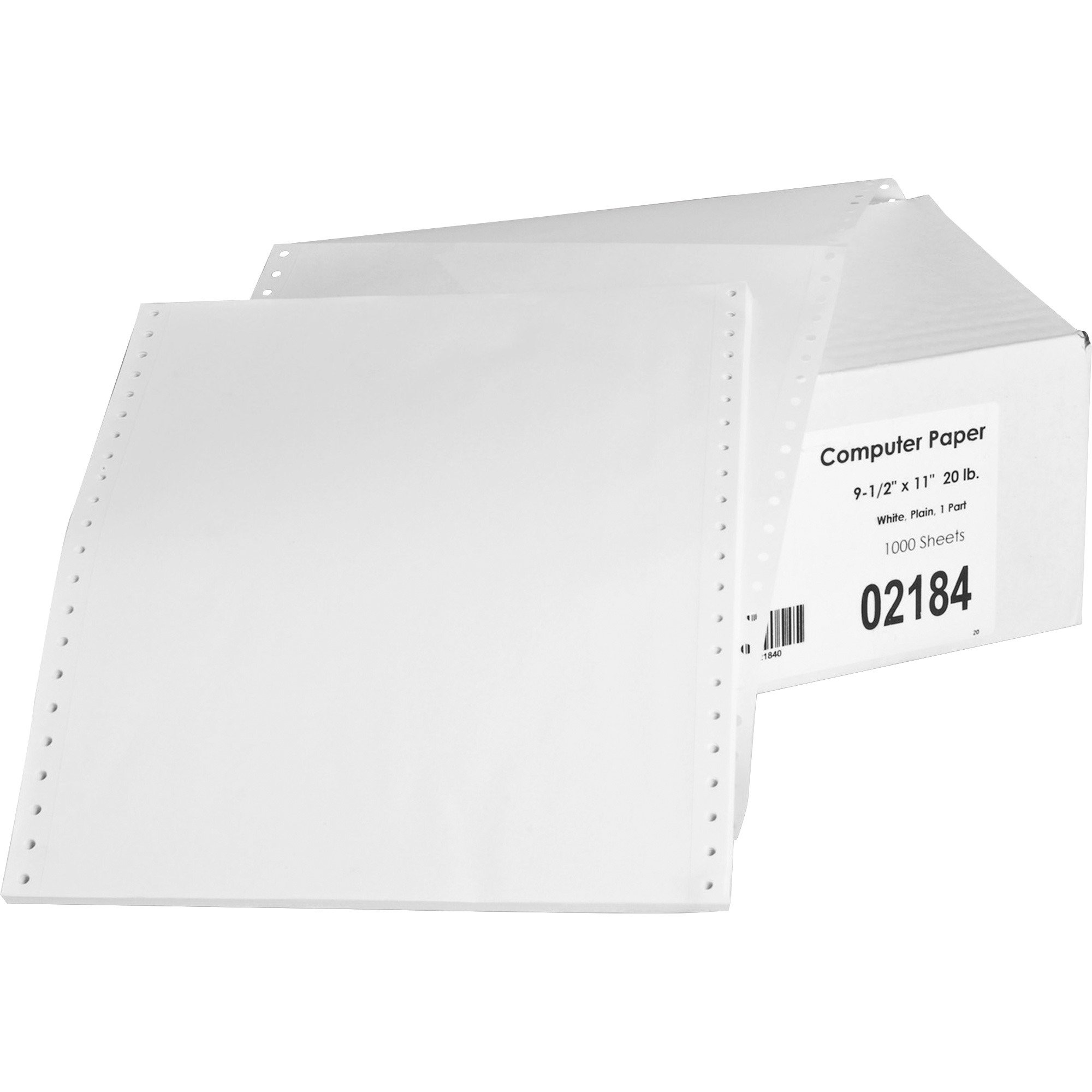 Sparco 02184 Feed Paper,Continuous,Plain,1-Part,9-1/2''x11'',1000/CT,WE