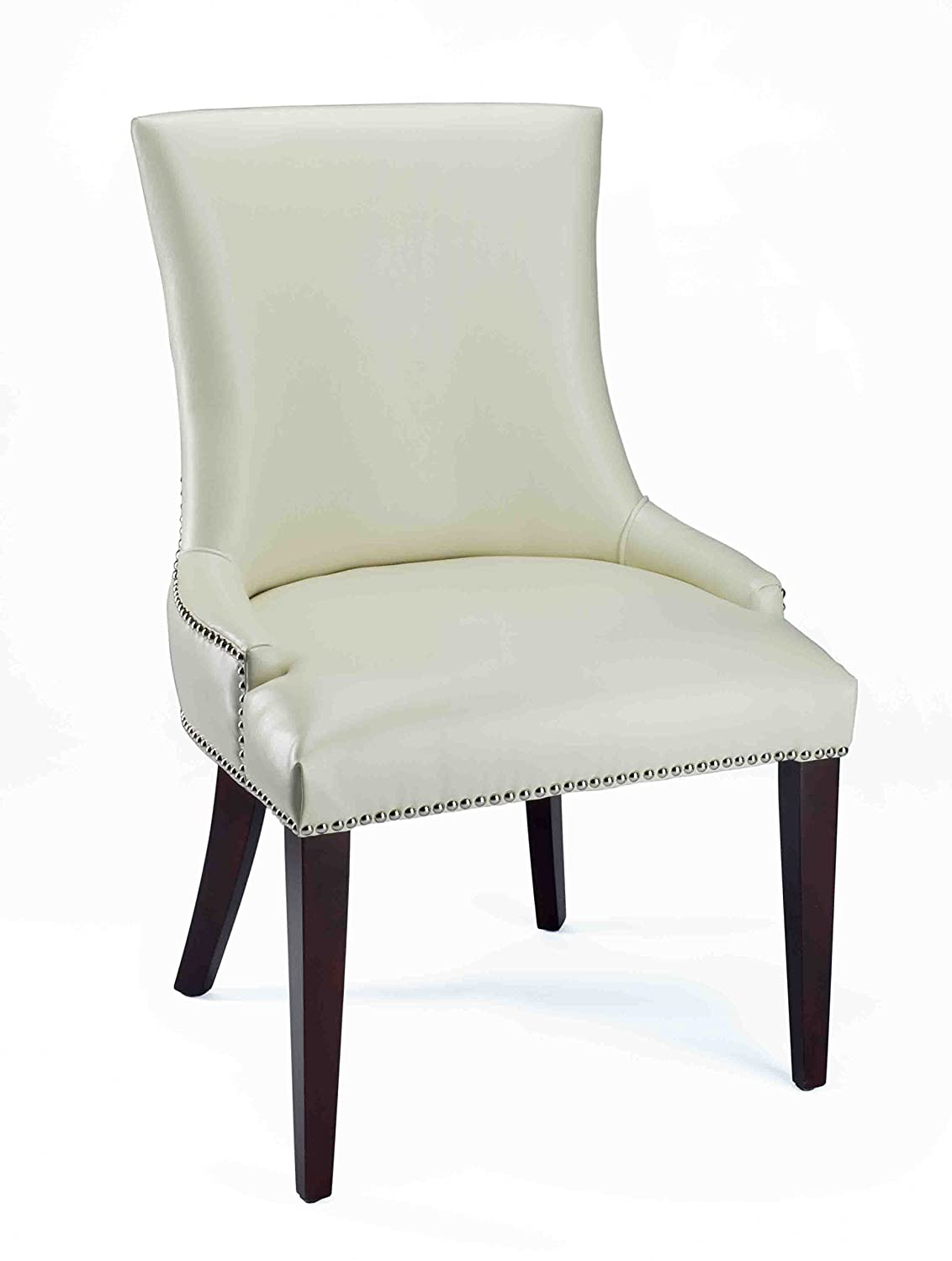 Amazon.com - Safavieh Mercer Collection Eva Leather Dining Chair ...