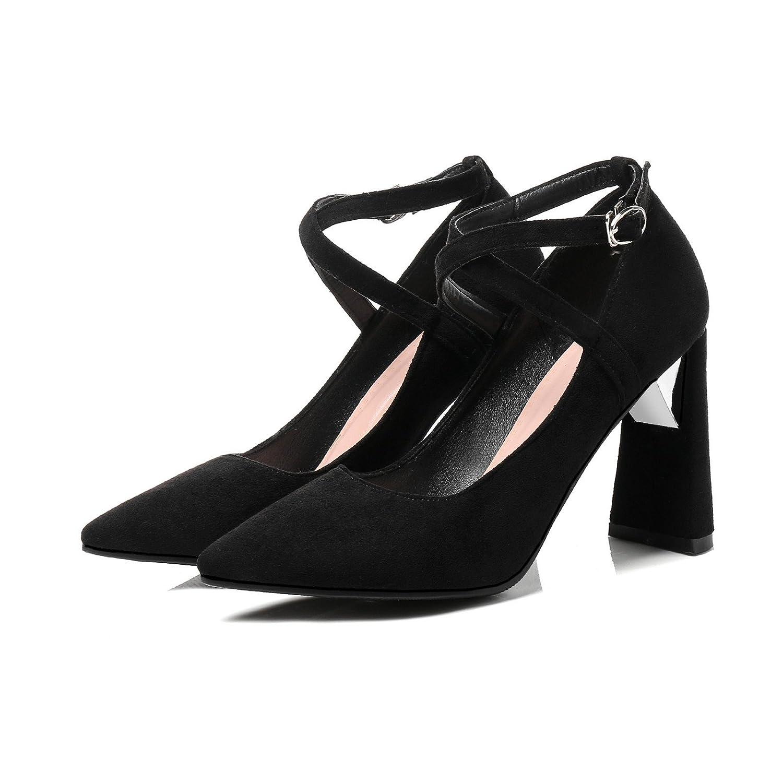Stilvolle dick mit high-heeled Licht-Geringe Braut einzelne einzelne einzelne Schuhe Frauen Schuhe schwarz ccbcc7