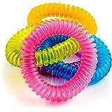 The Body Source Bracelets Anti-Moustiques - Lot DE 10 - pour Adultes et Enfants - Naturels Huiles essentielles - Ne Contient Pas de DEET. Résiste à L'eau