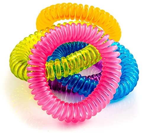 The Body Source Mosquito Repellent Bracelets (pack of 10) for Adults and Children with Citronella, Lemongrass and Geranoil and without DEET
