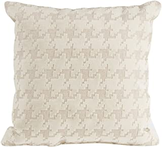 product image for Glenna Jean Fly-by Pillow, Cream Houndstooth