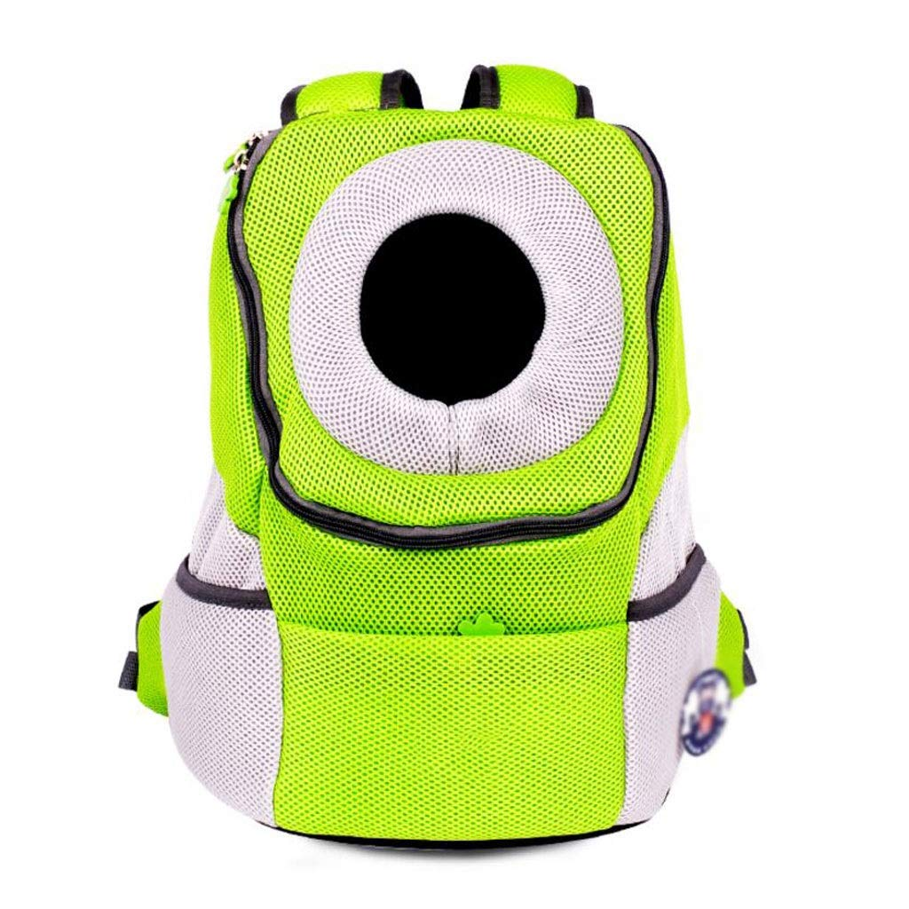 Green 382042cm Green 382042cm FJH Front Shoulder Pet Cage Cage Backpack Cat And Dog Portable Travel Transport Car Out Of Consignment Multicolor (color   Green, Size   38  20  42cm)