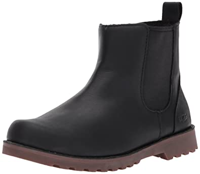 a918aae41ff Ugg Kids' Callum Leather Chelsea Boot - Black - 4