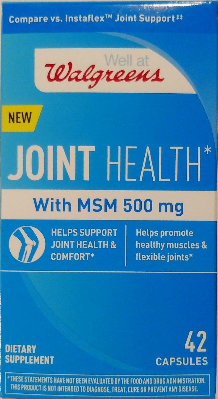 amazon com walgreens joint health with msm 500 mg 42 capsules