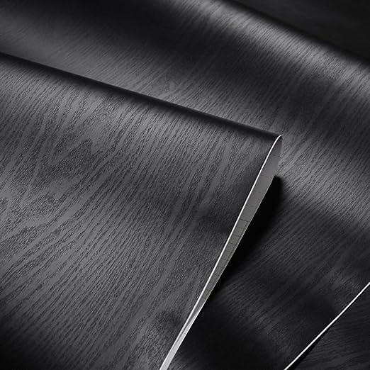 Negro con textura grano de madera papel de contacto - Vinilo ...