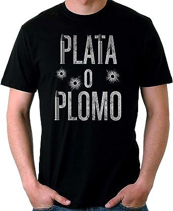 35mm - Camiseta Niño Plata o Plomo-Narcos-Pablo Escobar, NEGRA, 5/6 años: Amazon.es: Ropa y accesorios