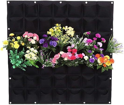 Felt Cloth Vertical Wall Garden Planter Indoor//Outdoor Ornament 49 Pockets