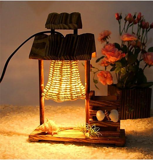 XUE Lampe de table japonaise chambre à coucher lampe de ...
