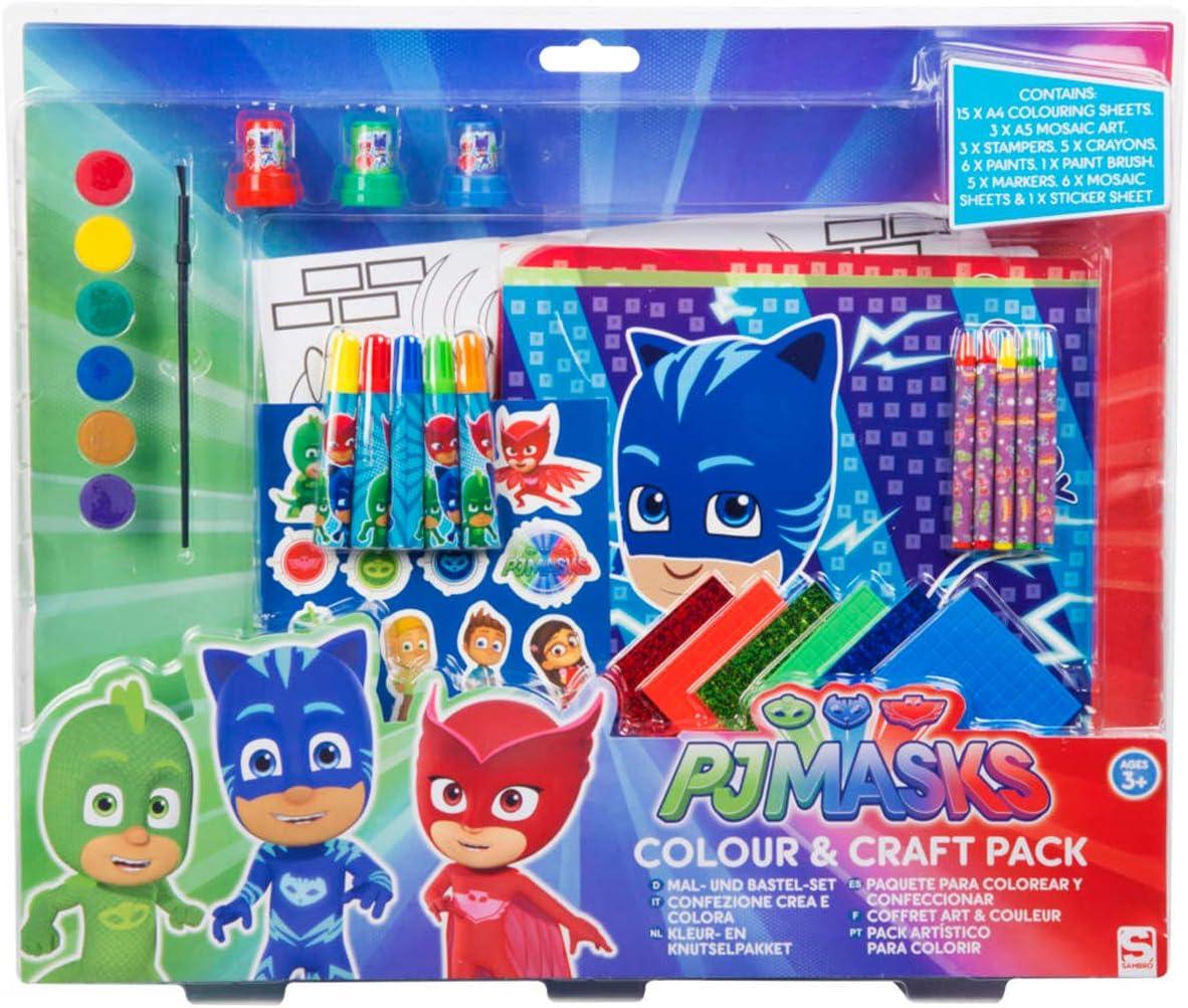 Sambro- Juego Color y Manualidades, marcadores, rotuladores, estampadores, Pegatinas, páginas para Colorear, Pinturas, Pinceles, etc, Multicolor ...