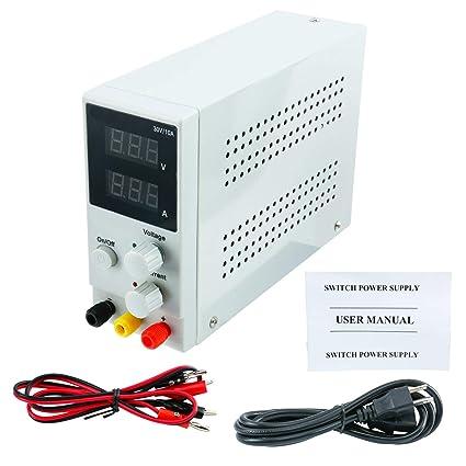 Amazon com: DC Power Supply Variable,0-30 V / 0-10 A