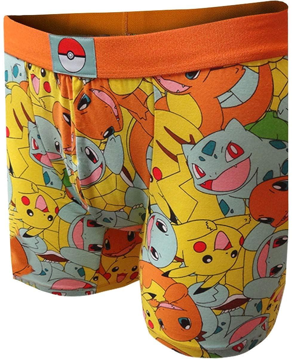 Underboss Mens Pokemon Pikachu Charmander Squirtle Boxer Briefs