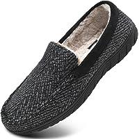 KuaiLu Zapatillas de Estar En Casa Hombre Invierno Cálido Forro de Felpa Zapatillas de Moccasin Espuma de Memoria de al…
