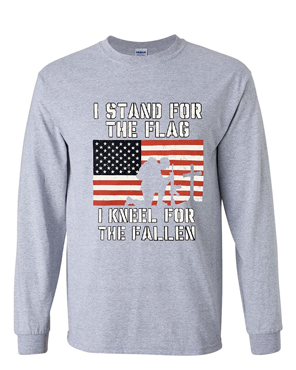 59490393 Amazon.com: I Stand for The Flag I Kneel for The Fallen Long Sleeve Tee  Patriot: Clothing
