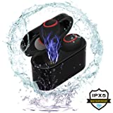 GULUDED Wireless Earbuds, Bluetooth 4.1 Headphones Sports In-Ear IPX5 Sweatproof Automatic Connection Bluetooth Earbuds Noise Cancelling with Mic and Charging Box for Iphone,Samsung and More