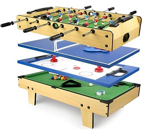PL Ociotrends Devessport - Multijuego 4 en 1 de sobremesa - Billar, Airhockey, Ping-Pong, Póker, Fácil Montaje - Medidas: 91.5 x 50.8 x 20.5 Cm: Amazon.es: Juguetes y juegos