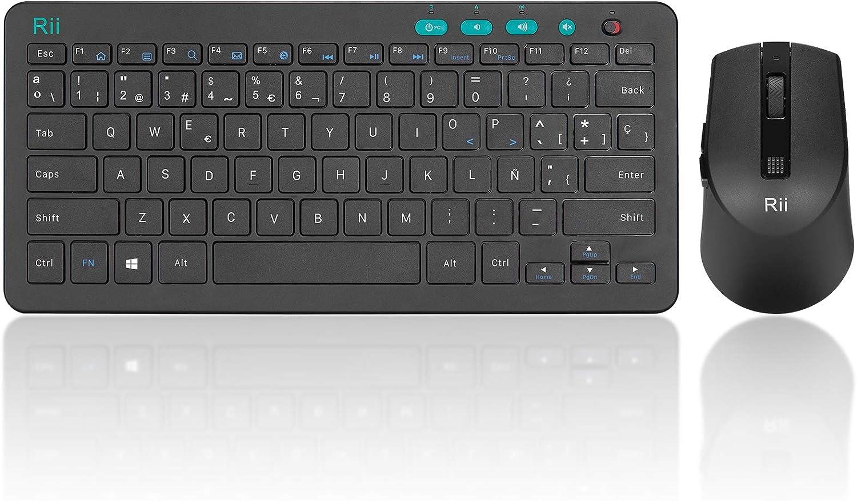 Rii combo teclado y ratón inalámbricos 2.4G , ultradelgados ...
