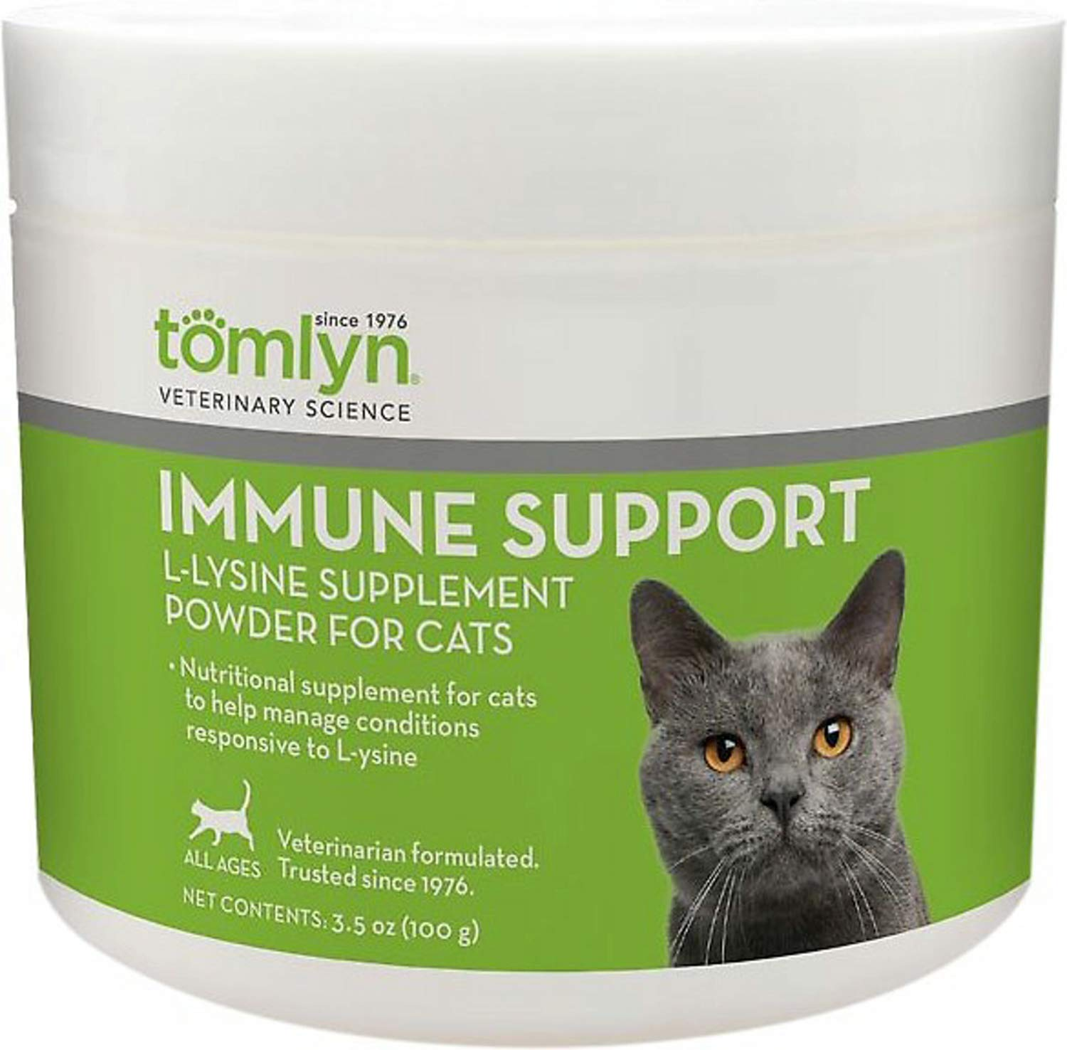 TOMLYN L-Lysine Powder for Cats and Kittens, 100 Gram, 12 Pack