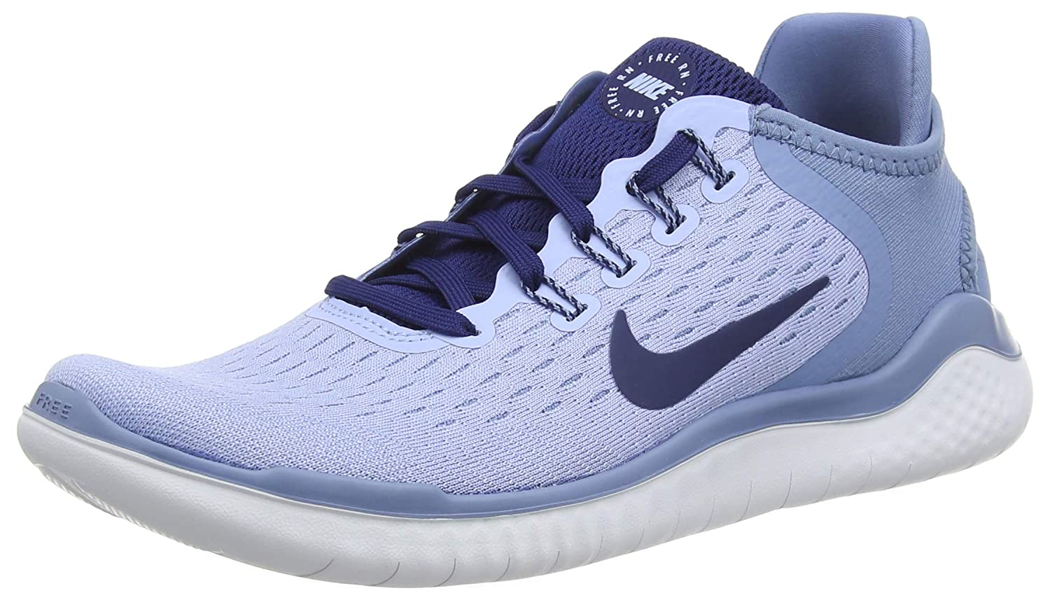 low cost ff7a5 46e7b Amazon.com  Nike Womens Free Run 2018 Running Shoes (8 B US, Aluminum Blue  Void Work Blue White)  Sports   Outdoors