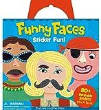 Peaceable Kingdom Sticker Fun! Funny Faces Reusable Sticker Tote
