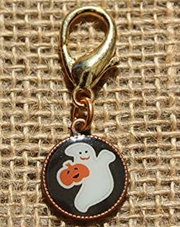 product image for Diva-Dog 'Ghost' Resin-coated Disc Dog Collar Charm