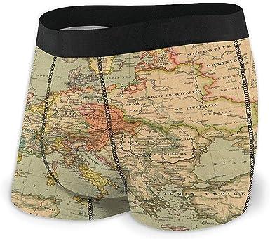 NA Ropa Interior Calzoncillos Boxer para Hombre Calzoncillos Mapas ...