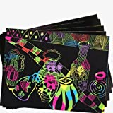 A5 Scratch Art Doodle Sheets Card Craft Drawing Activity/'s Rainbow Party Bag