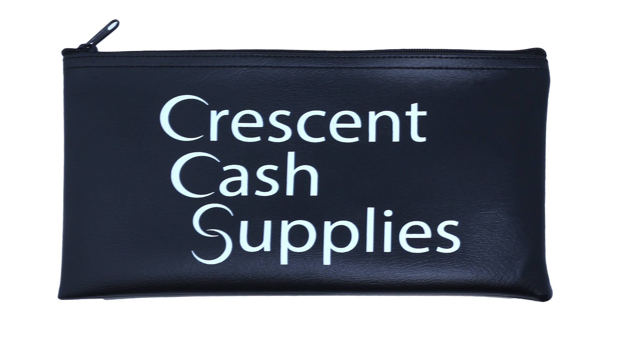 Bank Deposit Security Bags for Cash. Tamper Evident and Resistant Plastic, Perfect for Night Time Safe Money Drop. Comes with 100 Bags and 1 Black Vinyl Pouch.