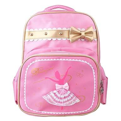 IEFIEL Mochila Infantil Guarderia Bolsa de Ballet Deporte Niña Backpack de Danza Baile Escolor Bolso con Bolsito Rosa Mochila para Niñas Rosa Talla Única: ...
