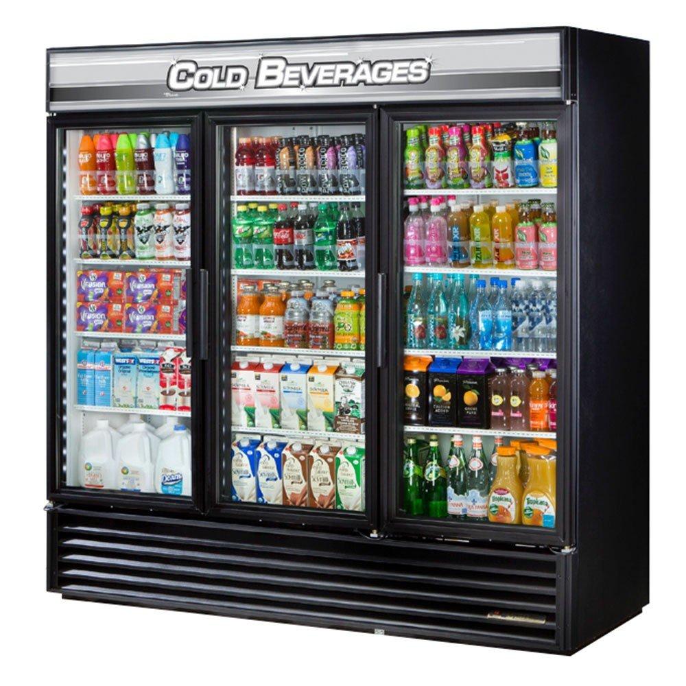 Glass Refrigerator Amazoncom True Mfg Gdm 72 3 Door Glass Swing Door Refrigerator