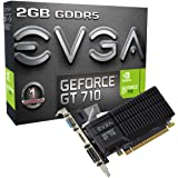 EVGA GeForce GT 710 2GB GDDR5 Passive, Low Profile Graphics Card 02G-P3-3712-KR