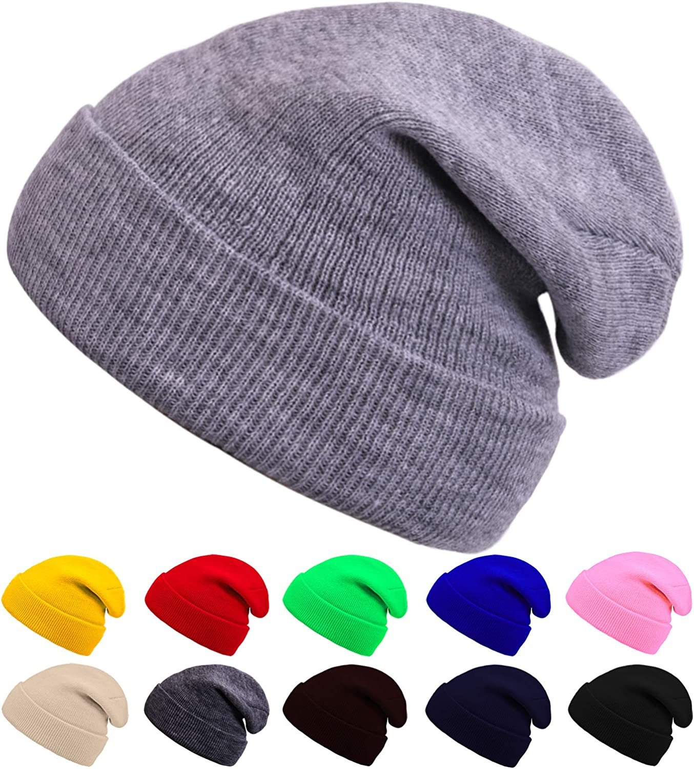 SUNNEEHOME Beanies for Kids Winter Knitted Warm Cold Weather Beanie Hats Boys Girls Caps