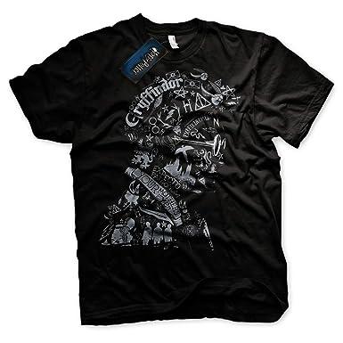 Harry Potter Hogwarts - Camiseta Símbolos y hechizos T-Shirt - 100% Oficial (