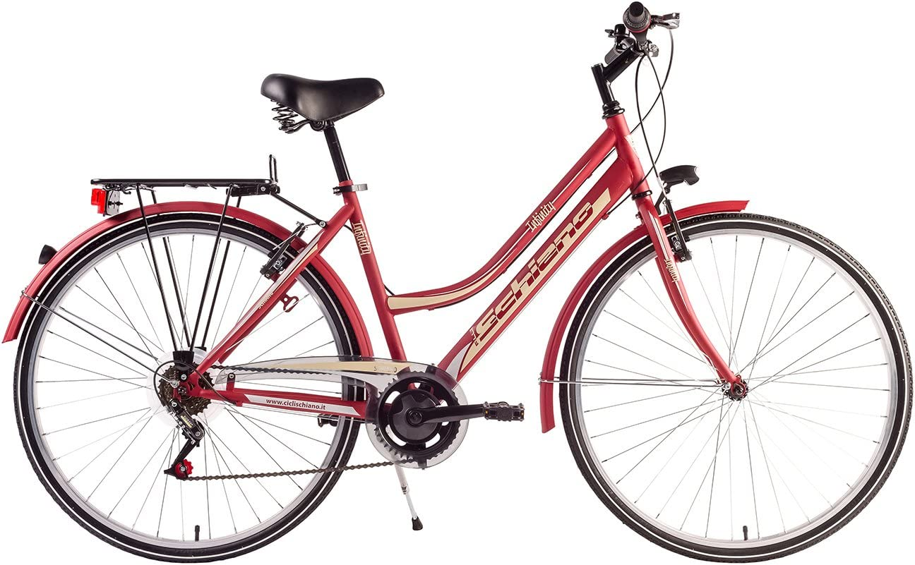 F.lli Schiano CTB Trekking Infinity Bicicleta, Mujer, Rojo/Beige ...
