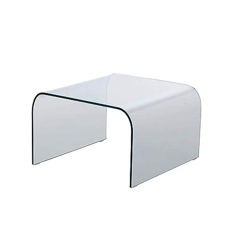 Tavolino In Vetro Curvato.Qriosa Stile Italiano Mod Arco Tavolino Basso In Vetro Curvato