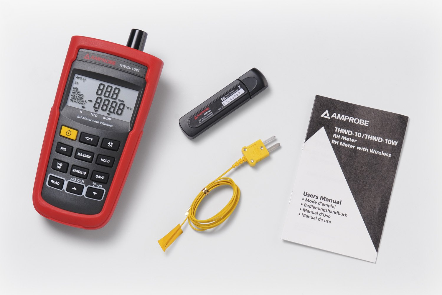 Amprobe THWD-3 Temperature and Relative Humidity Meter