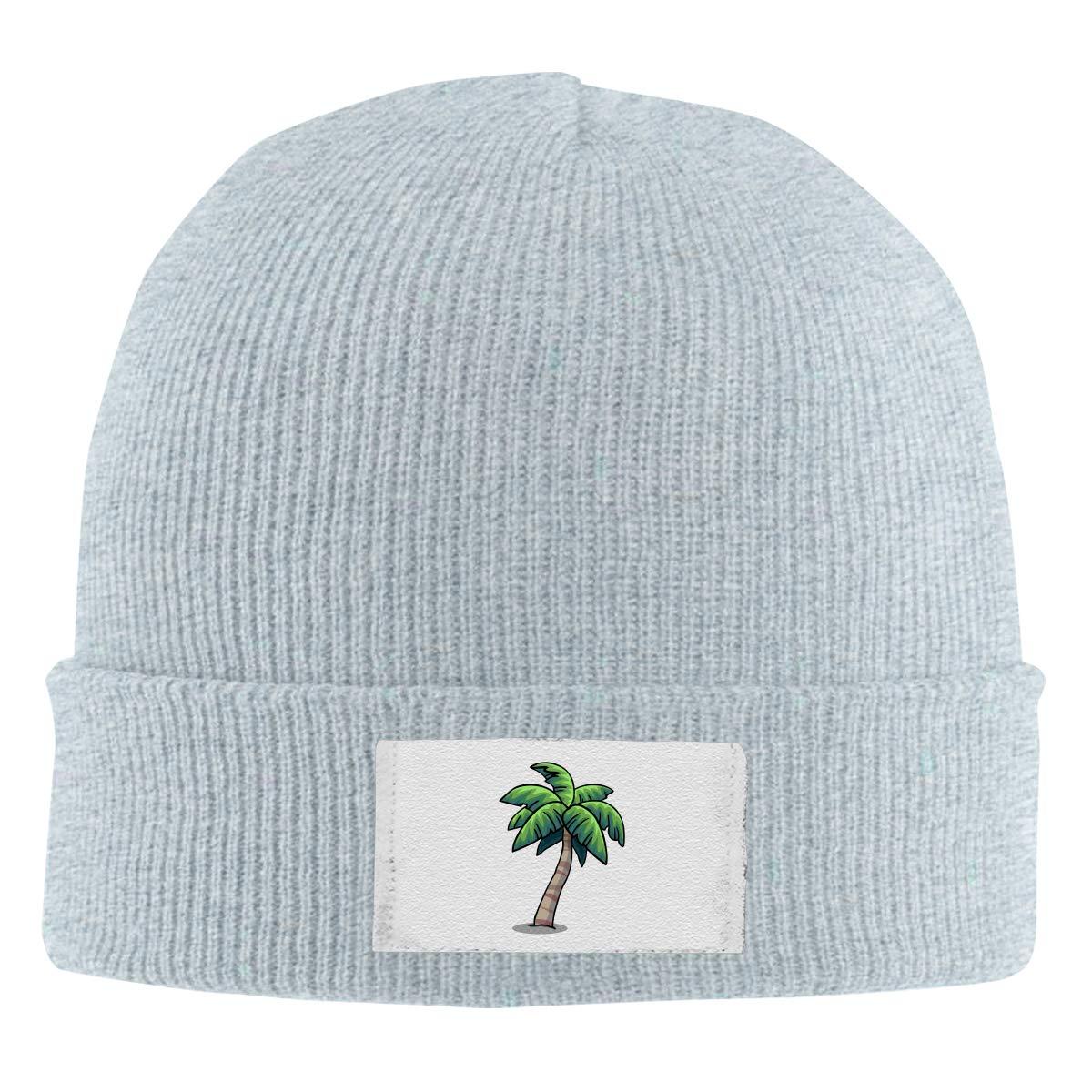 Unisex Stylish Slouch Beanie Hats Black Palm Tree Top Level Beanie Men Women