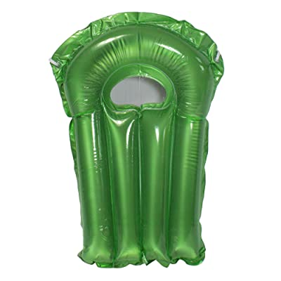 "Swim Central 30"" Inflatable Transparent Green Surf Rider Pool Float with Clear Window: Sports & Outdoors"