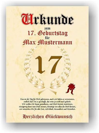 Documento para 17 cumpleaños - Tarjeta de felicitación de ...