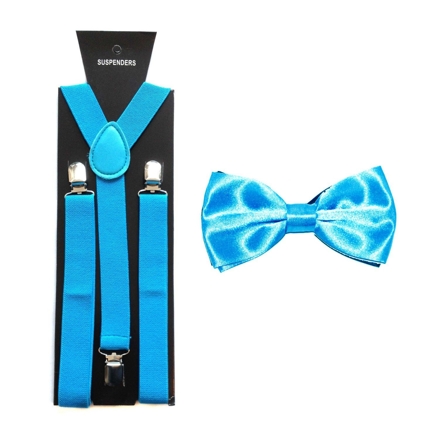 Boys/Kids Satin Bow Tie with Matching Braces/Suspenders