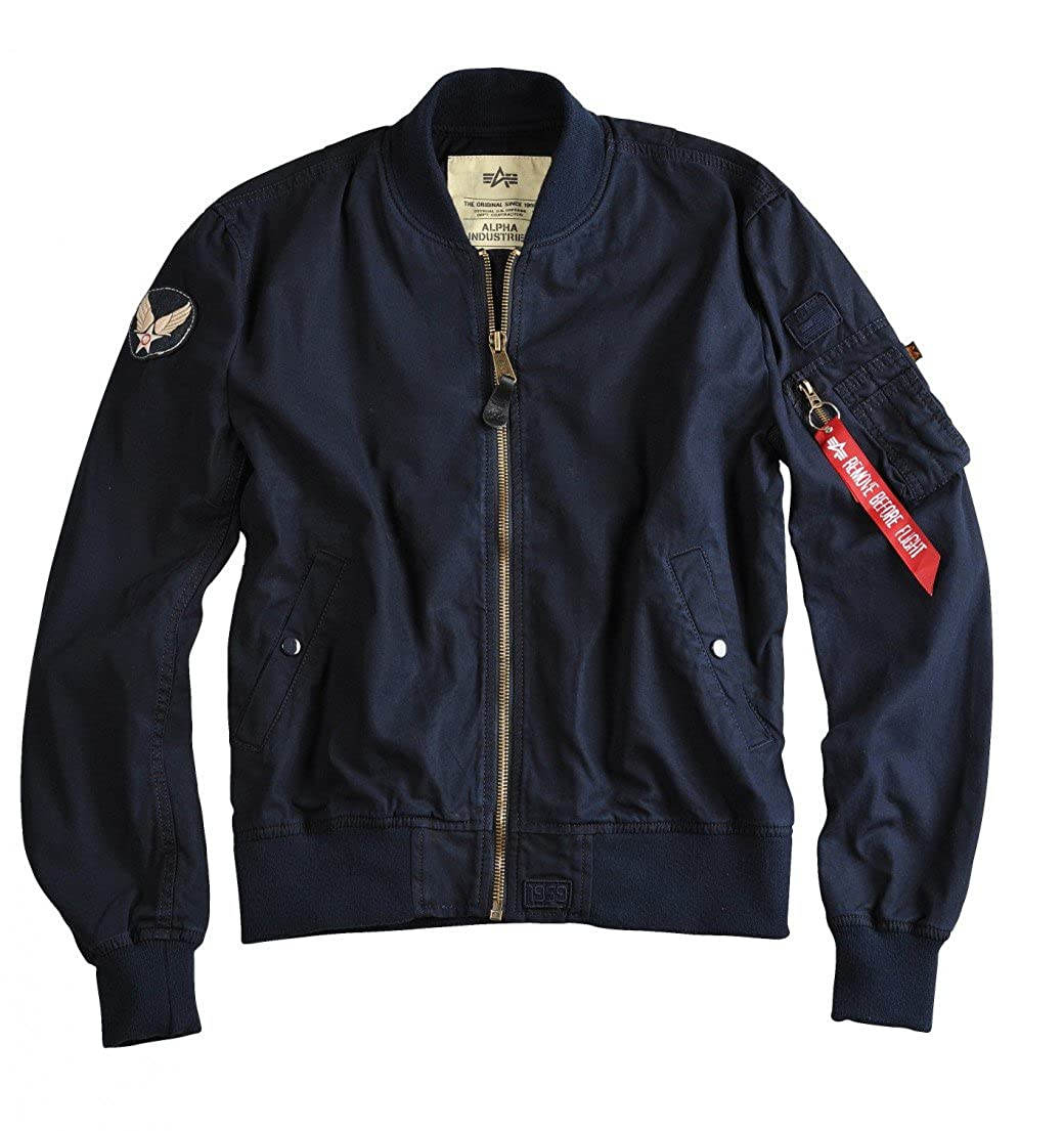 6b0264ebf10 Alpha Industries Alpha MA-1 Ground Crew Flight Jacket X-Large Rep. Blue   Amazon.co.uk  Clothing