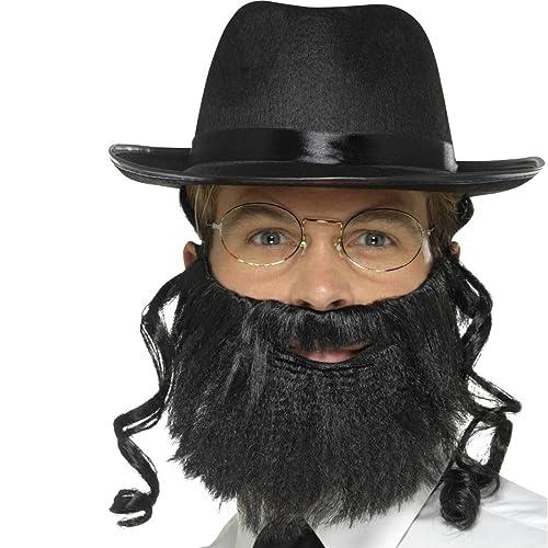 Rabbi Costume Set   avec chapeau, cheveux, barbe et lunettes   Déguisement Rabbin   Accessoire costume judaïque