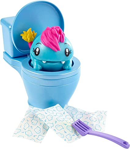 Lot Of 9 Pooparoos Surpriseroos Toilet Surprise Mini-Figure Case