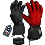 Ravean Heated Ski Gloves & Mittens - 7.4v Rechargeable Battery, 3M Thinsulate Insulation for Men & Women