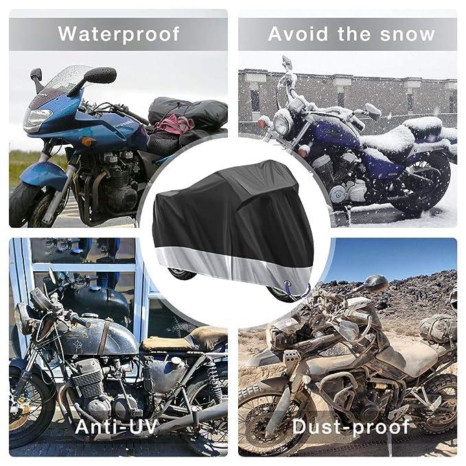 Funda para Moto Cubierta de la Moto Funda Protector para Moto Impermeable Funda para Moto 210D Tela Oxford Cubierta Protector Impermeable al Aire ...