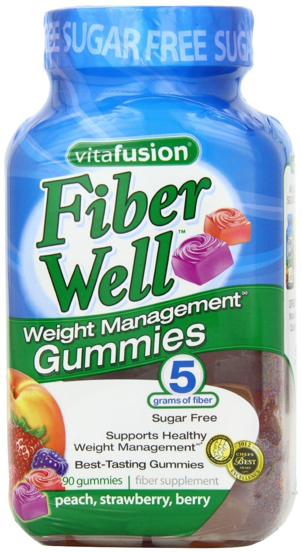 Vitafusion Fiber Gummies Weight Management, (Sugar-Free Fiber Gummies) New Super Size Package 360 Count