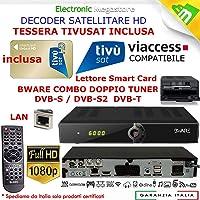 Decoder Satellitare HD compatibile con tessera Tivusat è con tessere Viaccess CON TESSERA TIVUSAT INCLUSA Bware COMBO 540